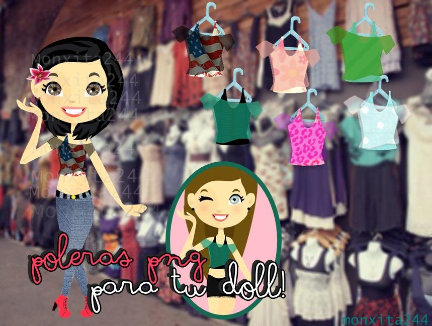 Poleras para tus dolls! png ByMonxita244 by monxita244