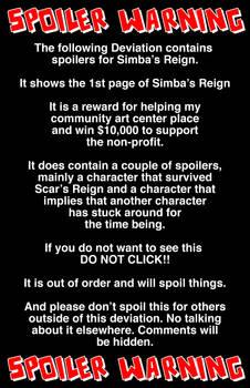 Simba's Reign Spoiler Prize