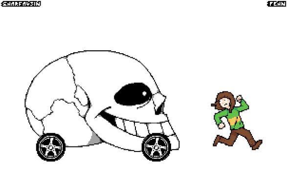 (Undertale) Sans convertible in 4k (GIF)