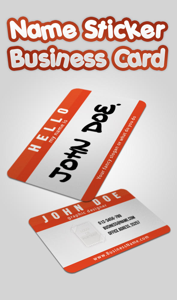 Name Sticker - Business Card by MosheSeldin