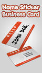 Name Sticker - Business Card