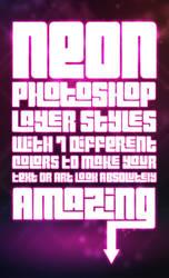 Free Neon Photoshop Styles by MosheSeldin