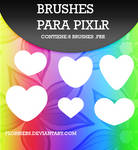 ++Heart Brushes {Para Pixlr} +Flor.