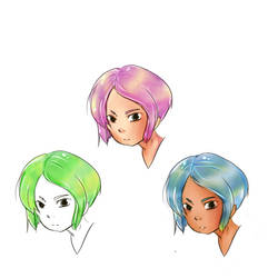 Different Hair colors.