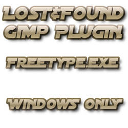 Lost+Found Gimp Freetype
