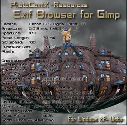 Exif_browser Plugin  Gimp by photocomix-resources