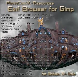 Exif_browser Plugin  Gimp