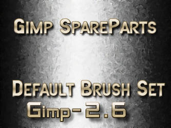 Gimp2.6 Default brush by photocomix-resources