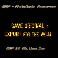 Gimp -SAVE +EXPORT