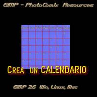 Gimp _Crea Calendario