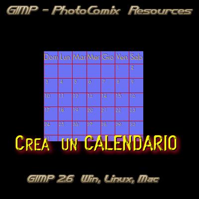 Gimp _Crea Calendario by photocomix-resources