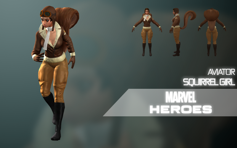 marvel heroes squirrel girl aviator by citrus07 on deviantart