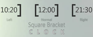 square bracket 1.0 - Clock