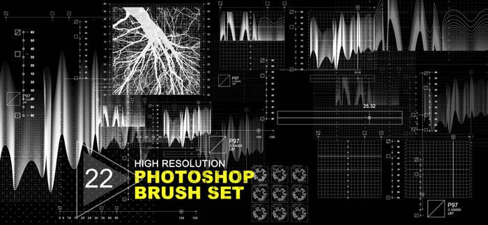 22 Hi Res PSD Brushes