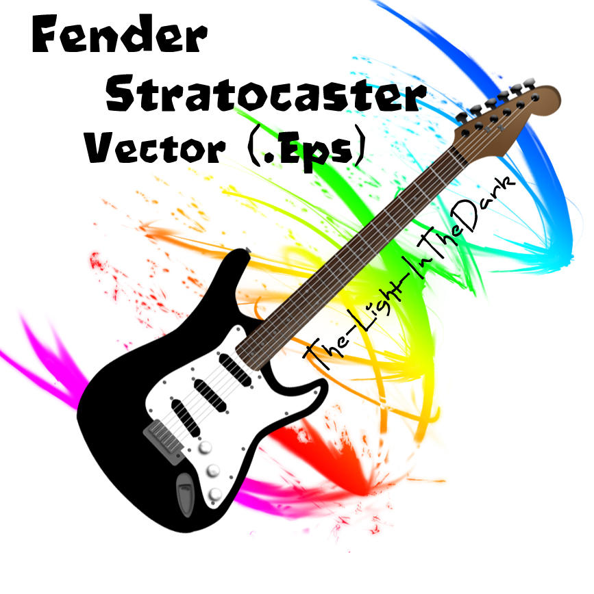 Fender Stratocaster Vector By The