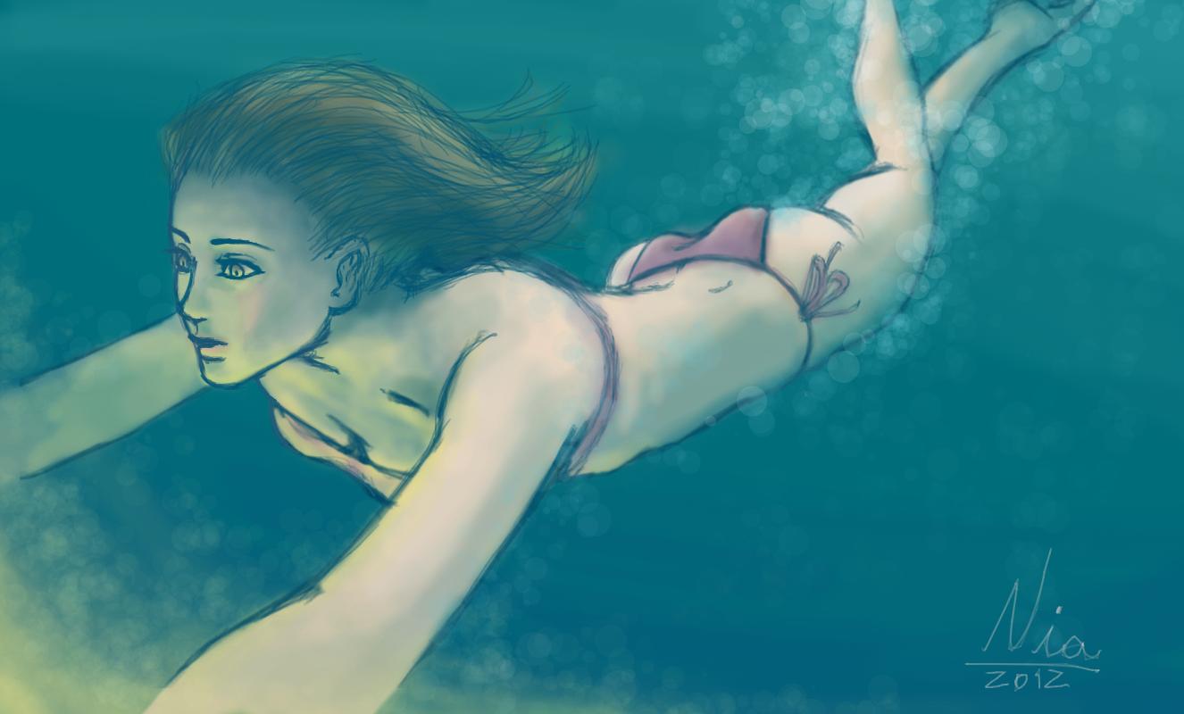 Swimming girl by FernandaNia