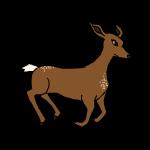 Running deer by FernandaNia