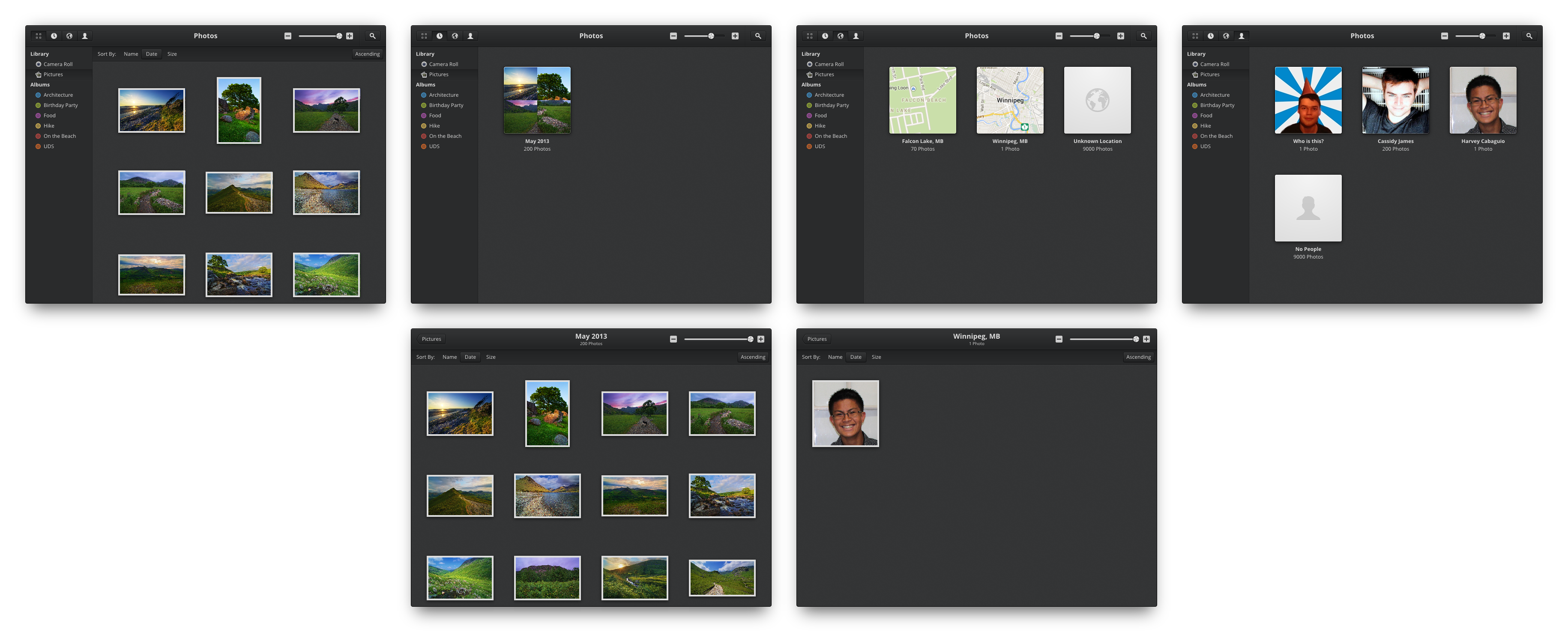 Photos view modes by BassUltra