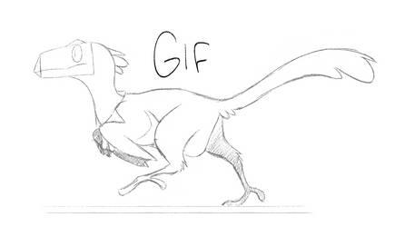 Dinosaur character animation tests
