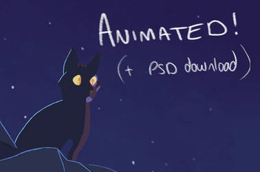 Lady Stardust animation (with PSD download) by Finchwing