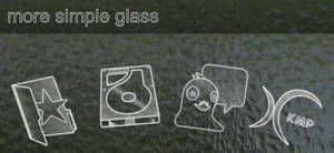 More 'simple glass' icon
