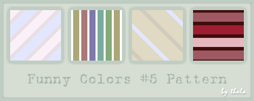 Funny Colors vol.5 Pattern by ThulaMarquise