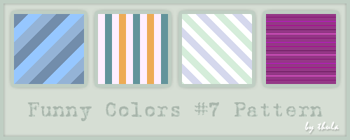 Funny Colors vol.7 Pattern by ThulaMarquise