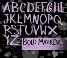 .:BOLD MARKER letters:. by porcelainBRUSHES