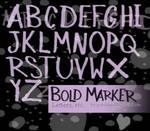 .:BOLD MARKER letters:.