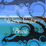 waves vector brush