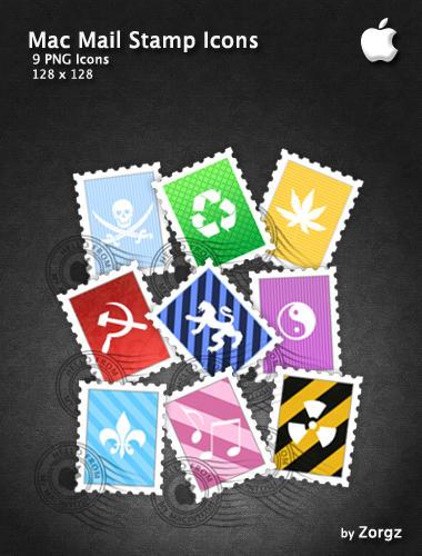 Mac Mail Stamp Icons by ZorgZ