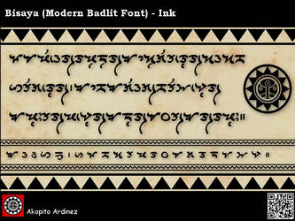 Bisaya Modern Badlit Font - Ink