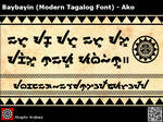 Baybayin Modern Tagalog Font - Ako