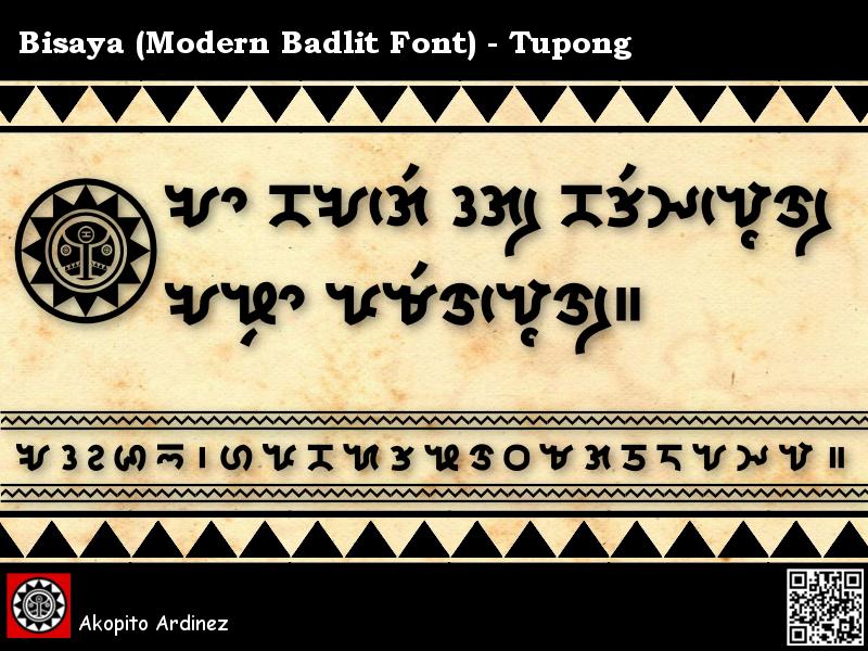 Bisaya Modern Badlit Font - Tupong by Akopito