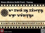 Bisaya Modern Badlit Font - Tupong