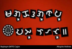 Baybayin Modern Tagalog Font - Cajon