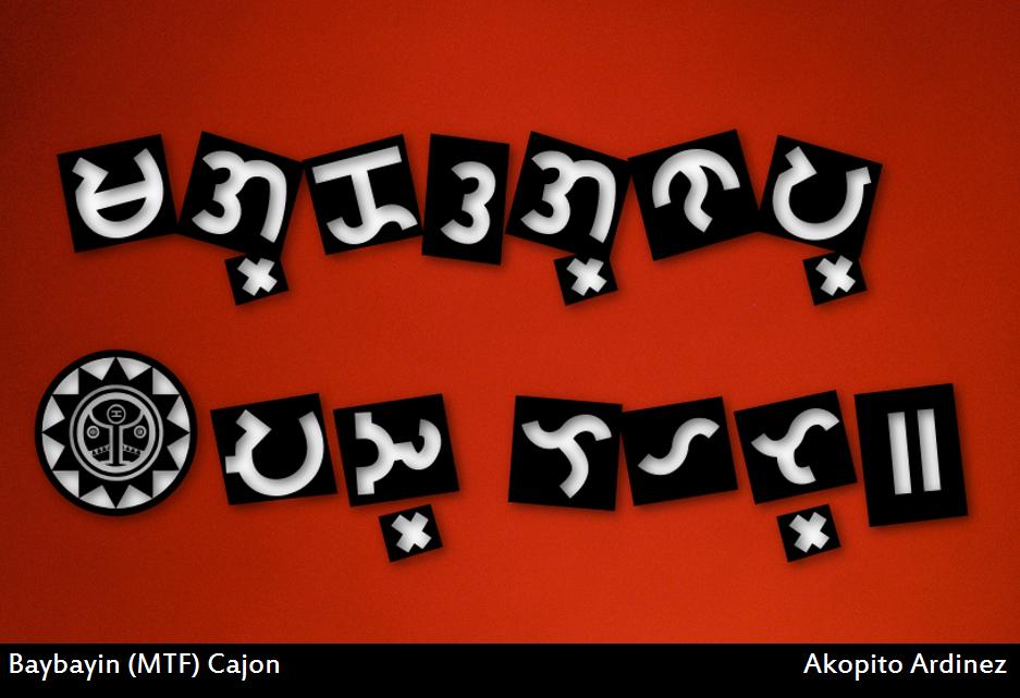 Baybayin Modern Tagalog Font - Cajon by Akopito