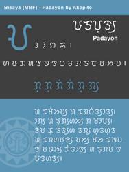 Bisaya Modern Badlit Font - Padayon