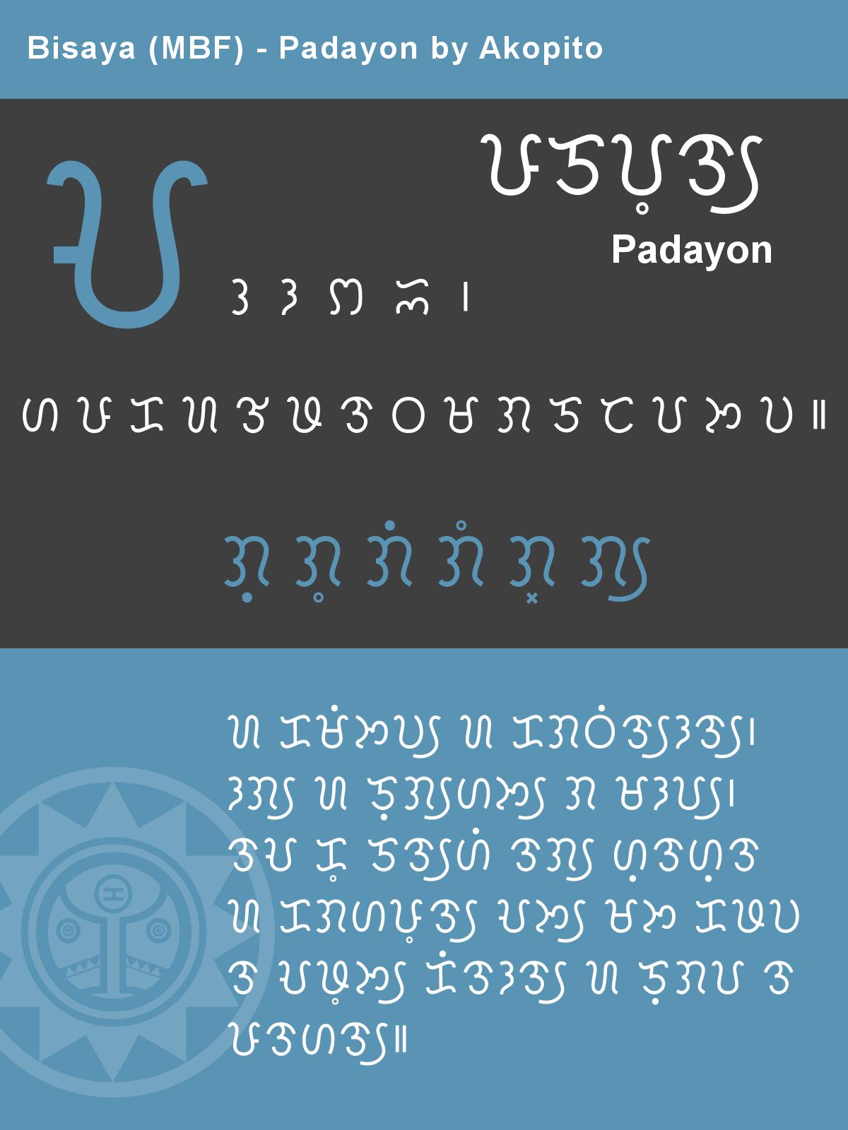 Bisaya Modern Badlit Font - Padayon by Akopito