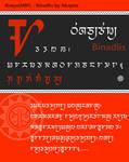 Bisaya (Modern Badlit Font)   Binadlis