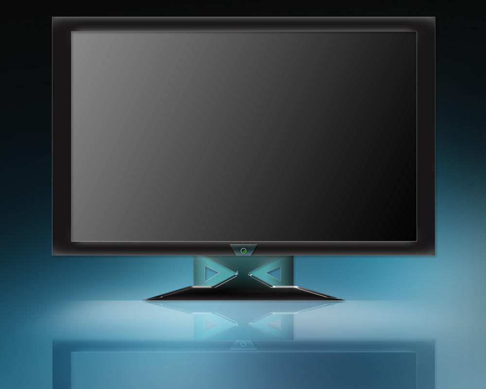 Lcd tv.monitor by widepngstock