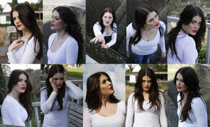 Casual poses set portraits