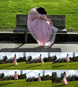 Pink dress set