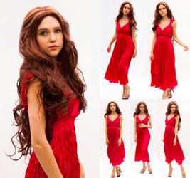 Red dress set
