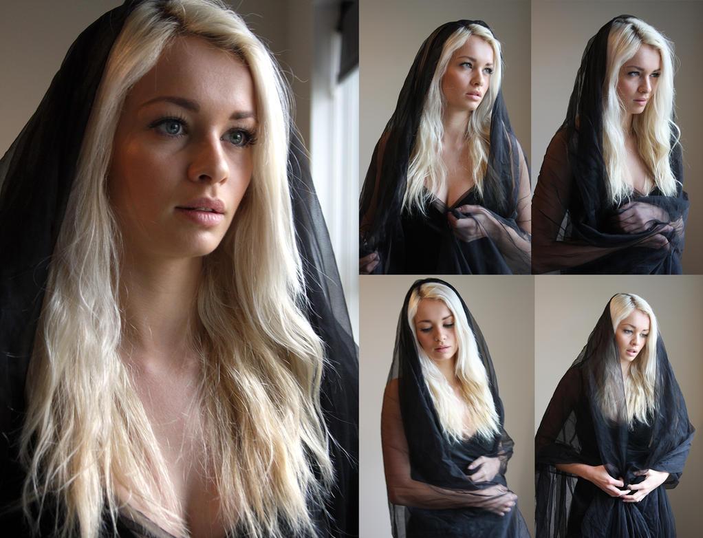 Black veil set by CathleenTarawhiti