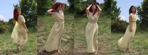 Reiko yellow dress set