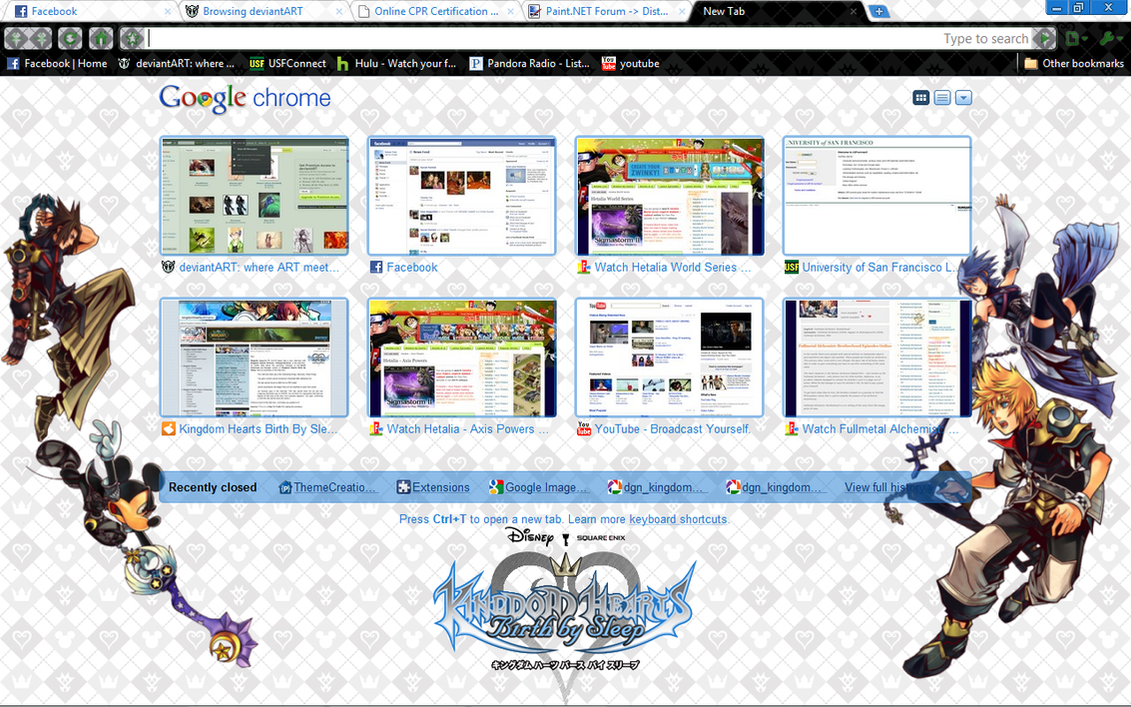 Google themes hearts - Kh Birth By Sleep Theme By Duodsh3190