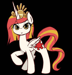 Poniko-chan to Princess Rising Sun (animated GIF) by kolshica