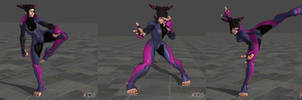 Street Fighter V Juri Pose Pack by ysc976