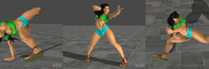 Street Fighter V Laura pose pack by ysc976